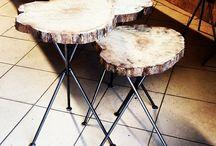 Mozilya Ahşap Sehpa | Kütük Sehpa | Zigon Sehpa | Orta Sehpa / Ahşap ve ağaç orta sehpa, zigon sehpa modelleri Wood coffee table , side table