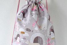 Sew many drawstring bags