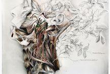 Still life with silk camellias / Natura morta con camelie di seta / Title: Still life with silk camellias / Natura morta con camelie di seta Dim: cm 100x100 Technique: oil and pencil on canvas / olio, matita su tela Year: 2015