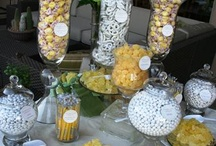Yellow sweet/dessert table inspiration / Inspiration for a spring themed table being created for a wedding event Treat Boutique are attending