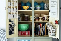 Kitchen Organization Ideas / These kitchen organization ideas will save you time and money and cut your stress level way back.  Storage solutions, counter top and cabinet organizers, and just a whole lot of cute!