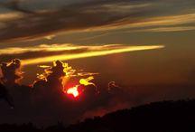 panorama / beautiful sunset