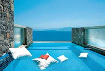 Private Swimming Pool / A truly astonishing view of the Sea and Beach from your own private pool.