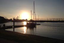 Vakantie / Ondergaande zon Port Zélande