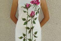 vestidos bordados y con pintura