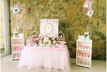 Mesa de postres pink