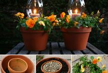 Flowers and garden decor