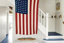 Red White & Blue / Patriotic decorating and entertaining.