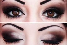 Smokey eyes make-up /