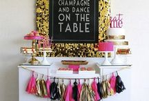 Let's Celebrate   Pink & Gold Love