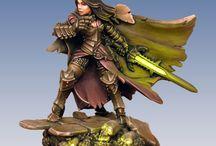 witchfire / heroic fantasy steampunk warmachine horde donjon e tdragon figurine miniature illustration