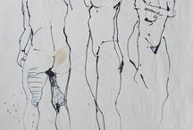 Life Drawings / These are some of my drawings (and paintings) from life models - using a variety of materials such as ink, pencil and charcoal.
