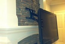 tv mounting ideas fireplace
