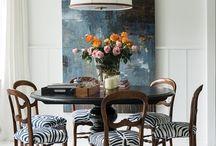 black pedistal dining rooms