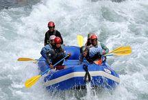 Rafting in Rishikesh / 1- Marin Drive to Rishikesh 24 Km. strech, 2- Shivpuri to Rishikesh 16 Km. strech, 3- Brahpuri to Rishikesh 9 Km. strech