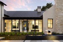 Modern villa windows