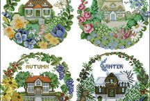 Four Seasons Cross Stitch