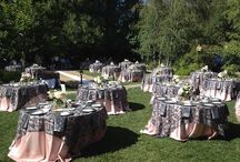 Linens and chair ties / by Elegant Beginnings