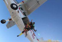 Salto de paraquedas em Resende / Imagens do salto de paraquedas em Resende no Rio de Janeiro