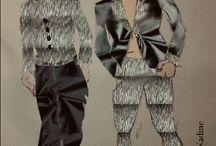 Dresses for Men Texture&TexSilverBlack / https://www.facebook.com/pg/NDNadineStylistOfficial/photos/?tab=album&album_id=1159341500763202