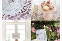 Wedding | Southern Tea Party Ideas / Hints of mint, peach, and blush.