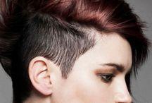Hair 4 Chez' asymmetric cut.