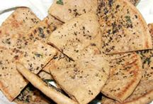 BREAD: FUNNEL+PITA+FRY+NAAN / Various bread recipes for funnel cakes, pita chips, pita bread, naan, & fry / by Janice Maiolatesi