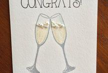 Congrats/birthday - wineglass cards