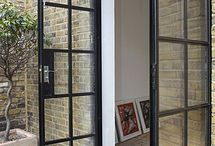 Kitchen patio doors