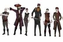 Costume drawings - Peter Pan / Costumes