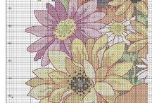 Cross Stitch cushion flower patterns