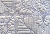 coloured thread on white