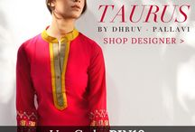 Taurus by Dhruv & Pallavi | Designer Wear / HERE BENEATH THE SUN! Play it cool in these fresh summer separates with fine thread work