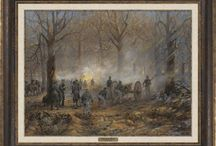 Civil War - Pea Ridge - Andy Thomas / The Battle of Pea Ridge, Arkansas March 7-8, 1862 by artist, Andy Thomas