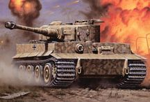 WWII German Tanks paintings
