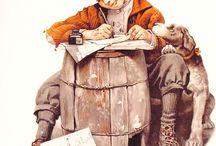 Reprising Norman Rockwell / #Great American narrative artist#humourist# heartbreaking portraitist