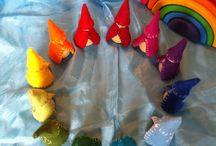 Pocket gnomes / Trolldomsgnom, årstidsgnomer og regnbuegnomer