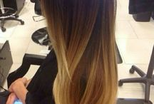 """Ombré caramel / Soft ombré, diffused caramel and copper tones, not brown not blonde but """"bronde"""""""