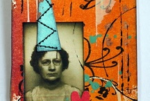 Paper art collage and ATC