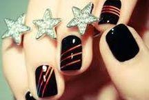 Nail art tons noirs