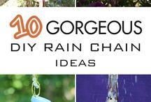 rain chain and rain barrels