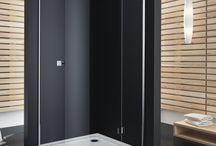 Kabiny prysznicowe półokrągłe / Kabiny, które ze względu na kształt świetnie sprawdzą się w mniejszych łazienkach.