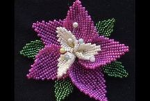 Beaded Flowers tutorials and videos