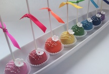 Cakepops&(On a Stick) / How cute are these little balls of Love? They can be a little time consuming and challenging at times to make, but well worth it! They make a big impression at any party. Hope you find some ideas to inspire you here.        / by Cake & Bake