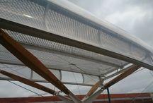 Gare de Rennes / Prototype de la toiture gare de Rennes - bois, acier, etfe - Arep / MaP3