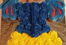 pasteles de princesa con cupcakes