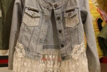 Lace & denim jacket-