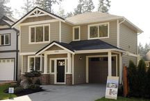 The Driftwood at Katie's Pond / This 1,413 Sq. ft. home has 3 bedrooms and 3 bathrooms with a single car garage.
