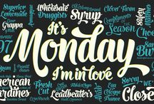 Monday Typeface / Monday Typeface