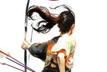 guerrieri con l'arco (archers)